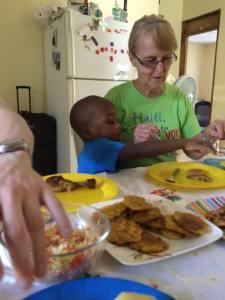 Ende photo VJ and Dr Ellen Lawson -Good Friday meal